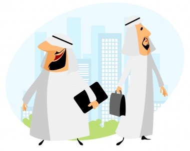 Two arabic businessmen