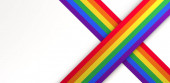 Background in the colors of the pride flag with space to place text. 3D illustration.