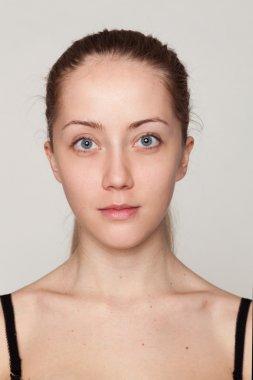 Beautiful young woman without retouching.