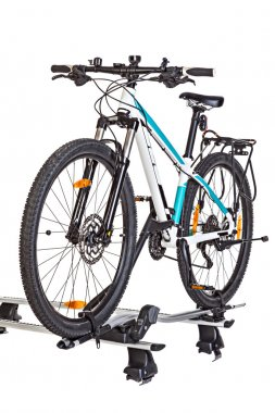 Bicycle setting with Roof Mounted Bike Carriers.
