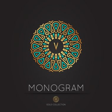 modern monogram, logo vector template.
