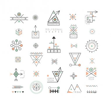 Set of minimal geometric shapes