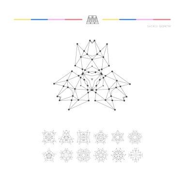 Set of minimal geometric shapes.