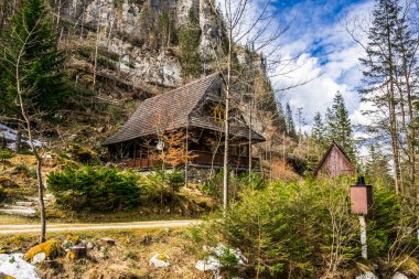 old house  in the mountains