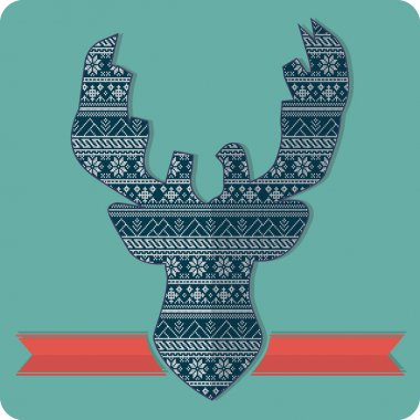 knitting deer pattern sweater