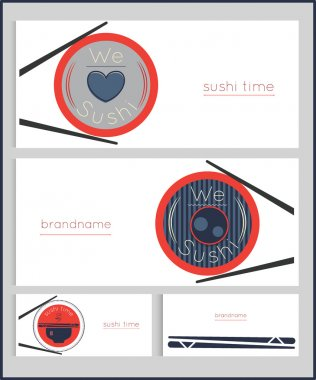 sushi time business card template