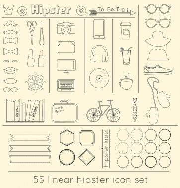 Vector signs and symbols templates for your design, linear icon