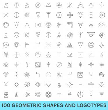 Set of 100 geometric hipster shapes12