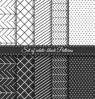Set of black white Pattern4