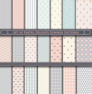 Big Set of Pastel Summer Pattern