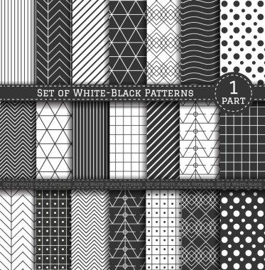 Big Set of black-white Pattern1