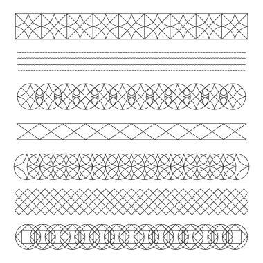 Set of line geometric hipster vintage design elements56