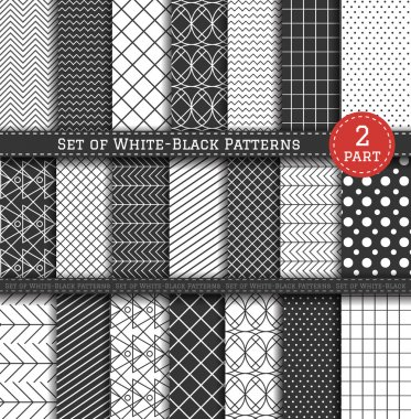 Big Set of black-white Pattern2