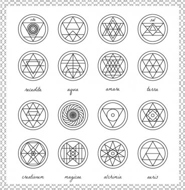 Set of geometric hipster shapes4566