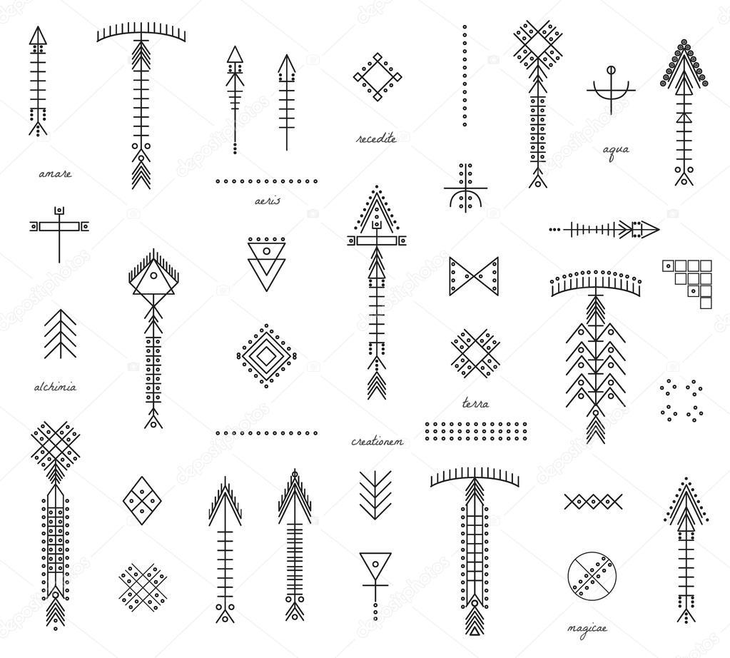 Flechas Geometricas Conjunto De Flechas Y Formas Geométricas