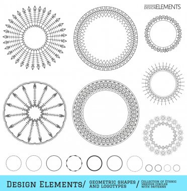 Set of geometric hipster shapes and logotypes654