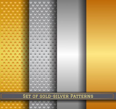 set of gold silver pattern11