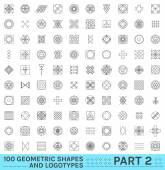 Fotografie Sada 100 geometrické bederní shapes12 2