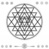 Fotografie Set of geometric hipster shapes 9z72211
