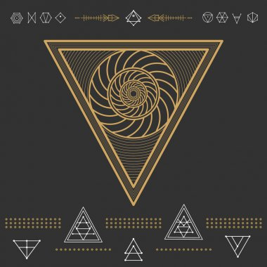 Set of geometric hipster shapes 9znl72211black