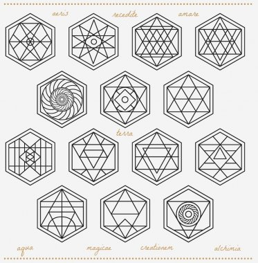 Set of geometric hipster shapes45z662