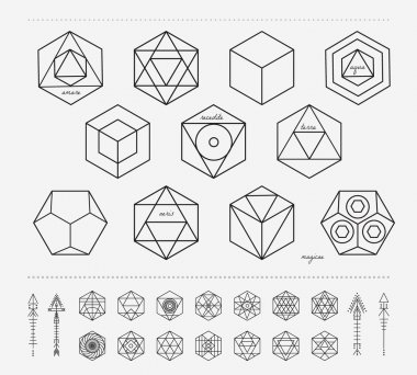 Set of geometric hipster shapes and arrows4f77