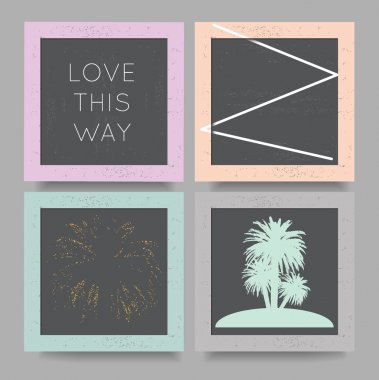 love this way geometric backgrounds set