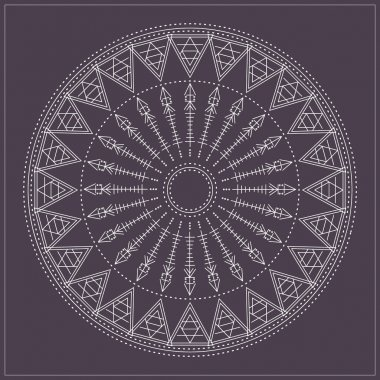 geometric hipster circle 65471654