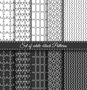 Set of black white Pattern6