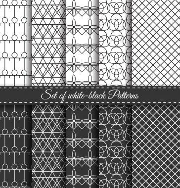 Set of black white Pattern7