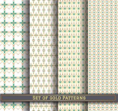 set of gold pattern115Z1