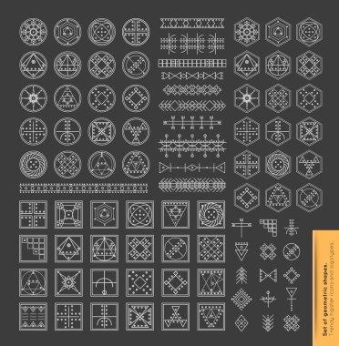 geometric monochrome shapes.
