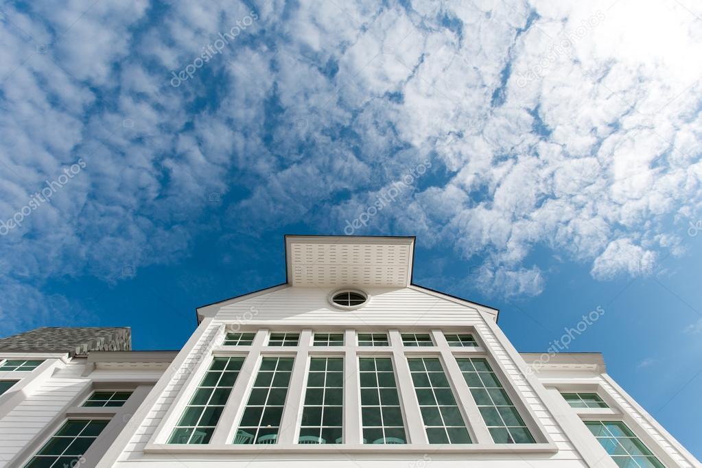 nice window with  blue sky