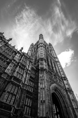 Westminster tower portrait Brexit mono