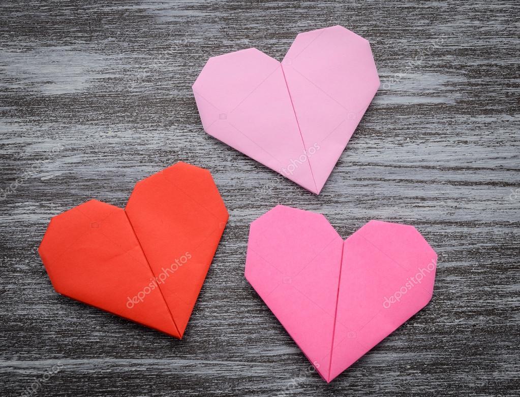 Картинки, оригами из бумаги открытка сердечко