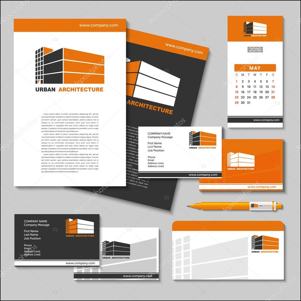 Business cards letterheads flash banner poster pen envelop business cards letterheads flash banner poster pen envelope calendar with the company logo set of templates the architecture of the city spiritdancerdesigns Image collections