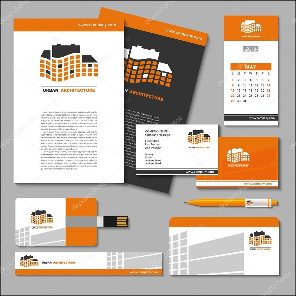 Set of templates. Business cards, letterheads, flash, banner, po ...