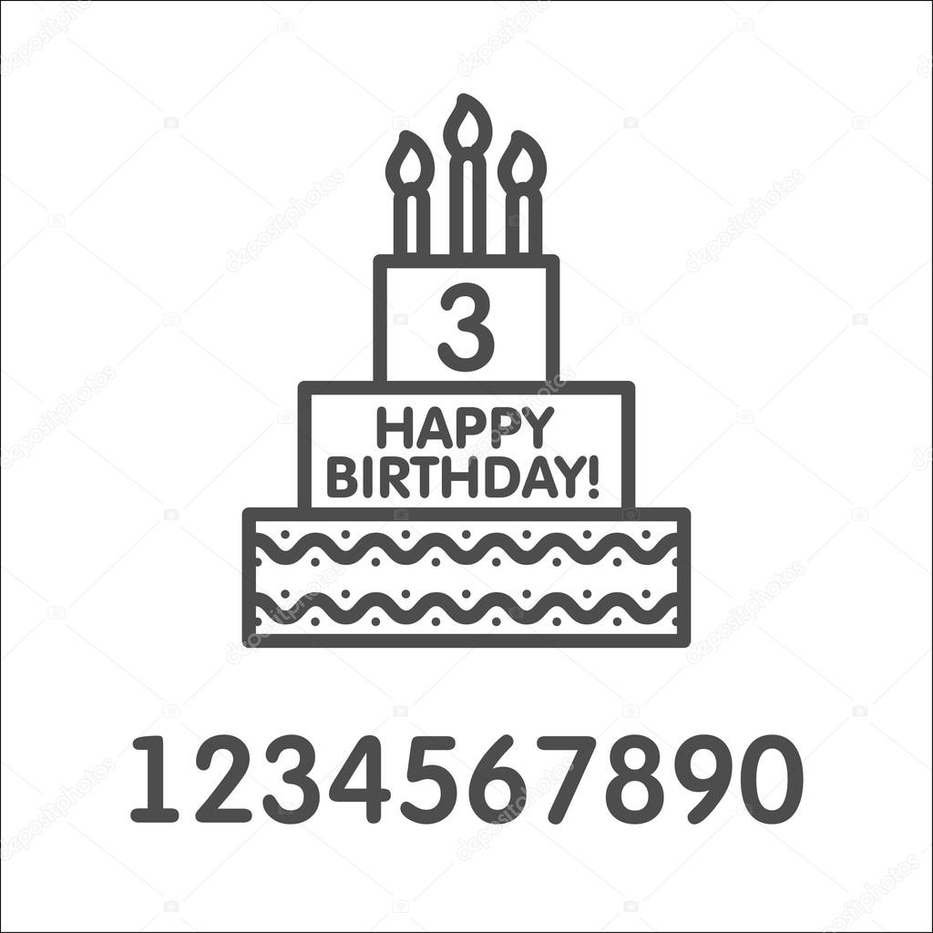 Birthday Cake Vector Icon Birthday Cake And Candles