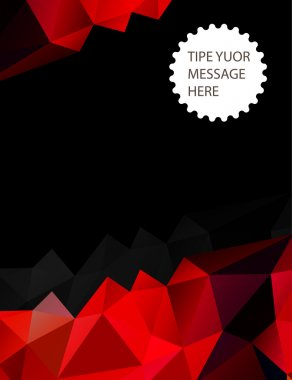 Red and black geometric background