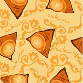 Samsa, seamless pattern