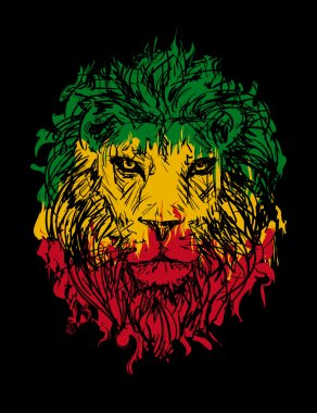 rasta lion vector 3