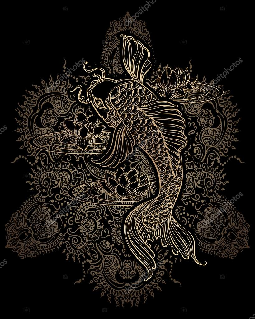 koi carp tatoo 2