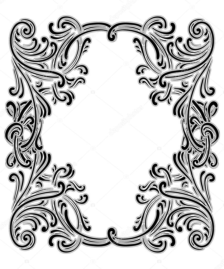 Viktorianische Rahmen Kunst — Stockvektor © YulianaS #116101752
