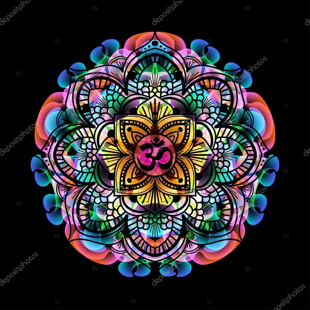 Fotos Mandalas Colores Color Mandala Om Vector De Stock