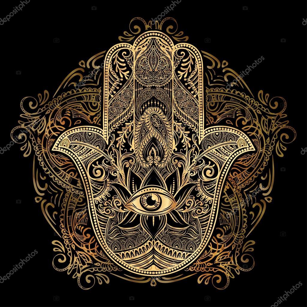 Elegant ornate hand drawn hamsa hand of fatima good luck and hamsa hand of fatima biocorpaavc