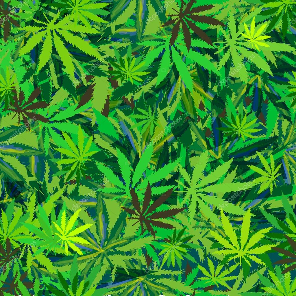 seamless pattern cannabis