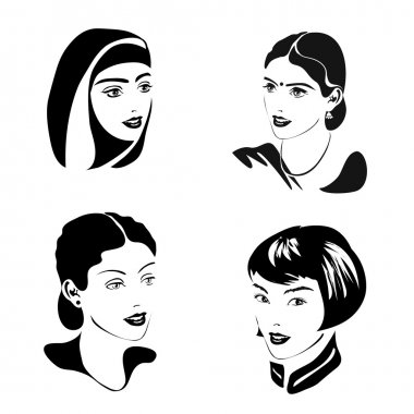 Four female portraits