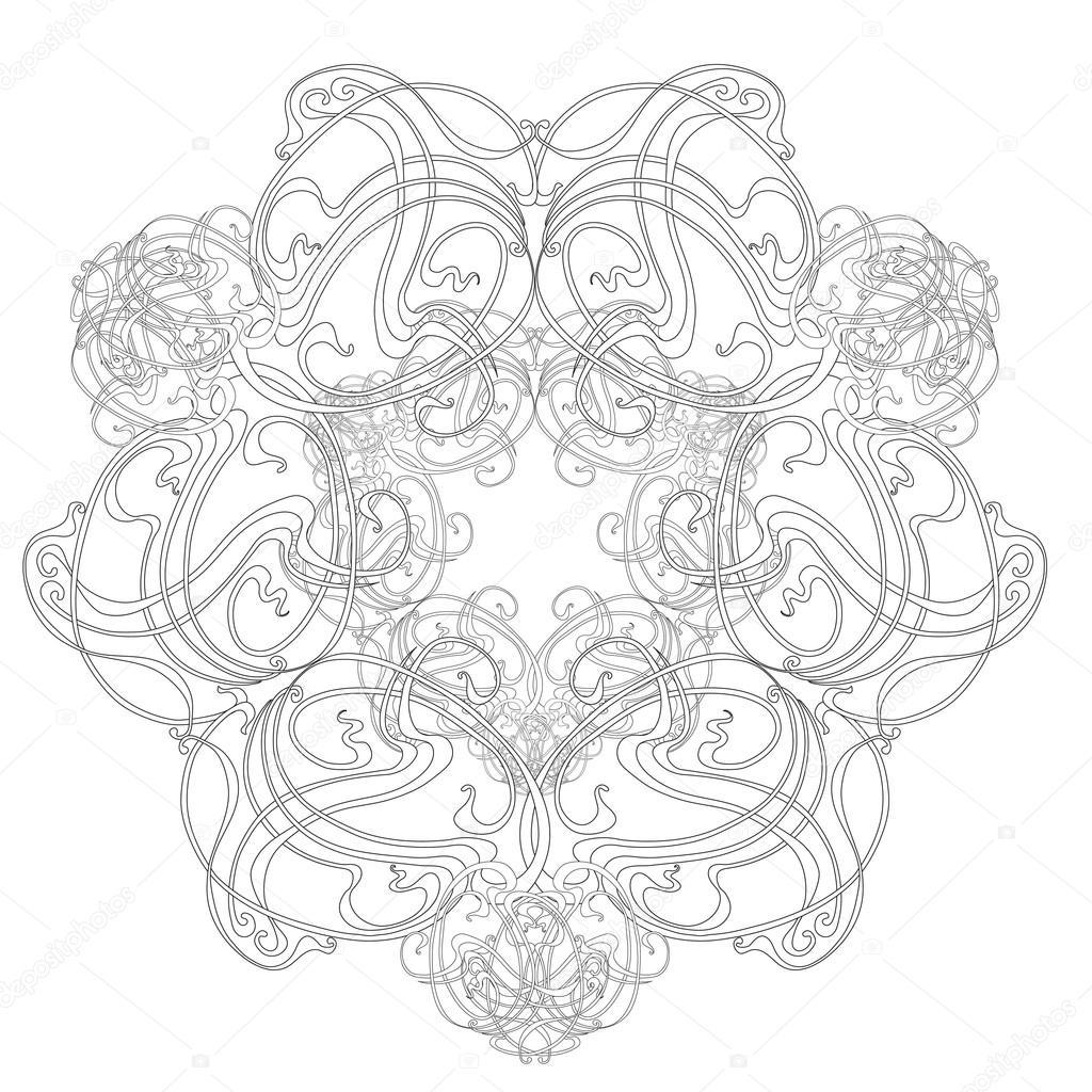 Round Pattern  Art Nouveau