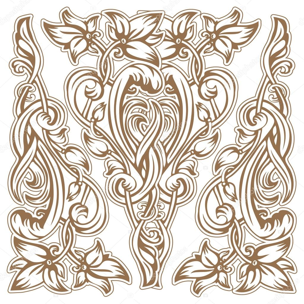 Fleurs De Style Art Nouveau Image Vectorielle Yulianas C 96328534