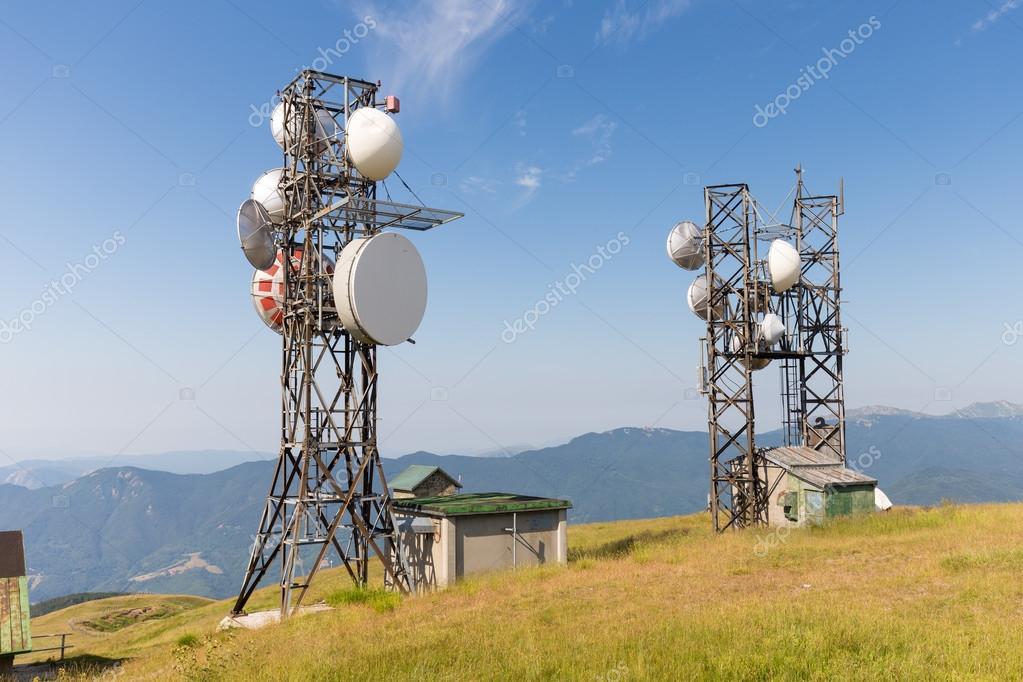 antennas on the mountains